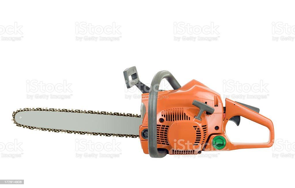New Chainsaw stock photo