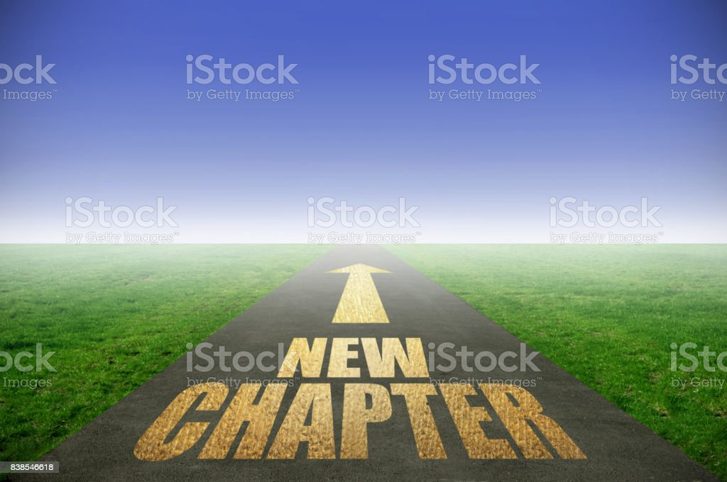 New chapter gold road stock photo
