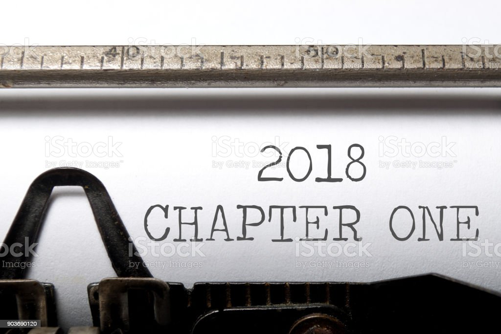 2018 new chapter stock photo