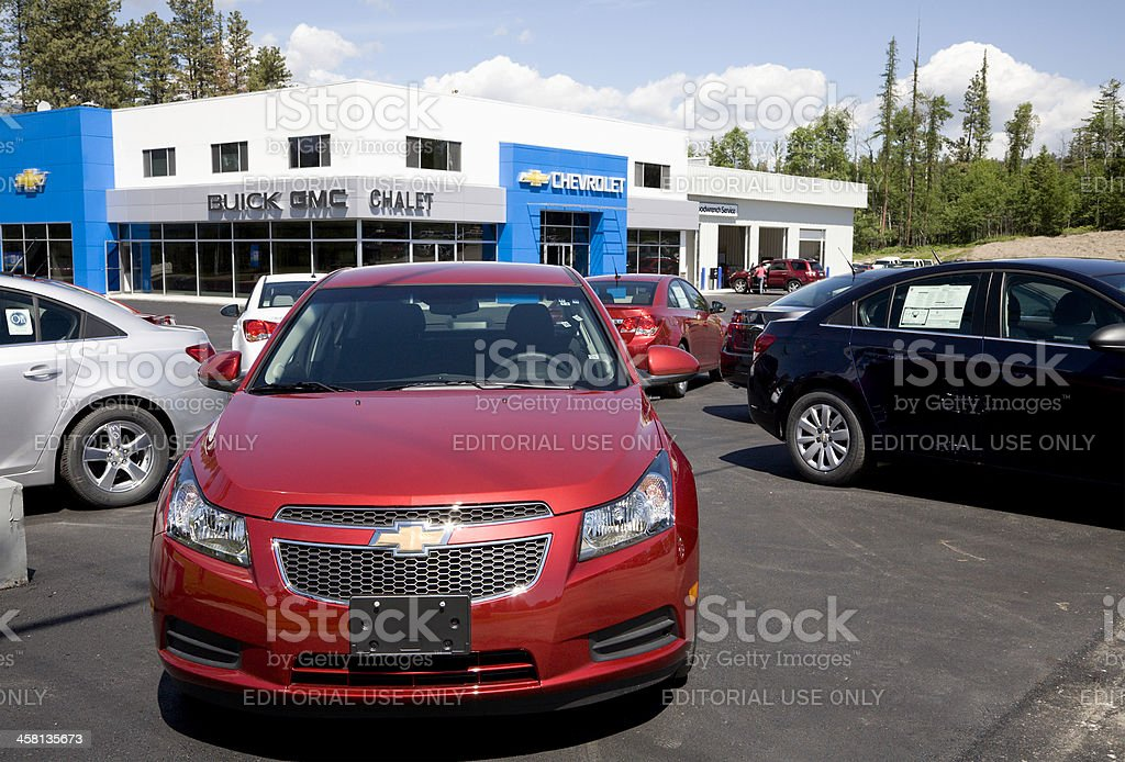New Chevrolet Cars And Dealership Building royalty-free stock photo