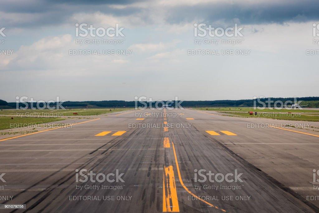 New Chitose Airport Runway stock photo