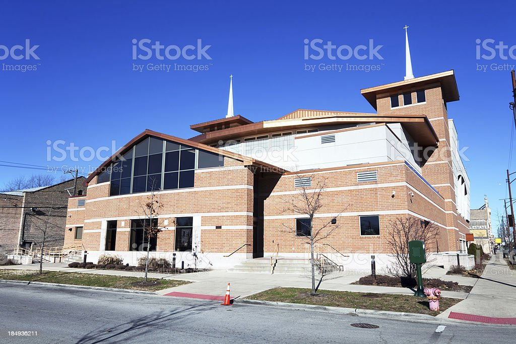 New Church in Greater Grand Crossing, Chicago royalty-free stock photo