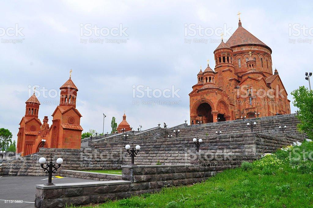 New church St. John the Baptist in Armenia stock photo
