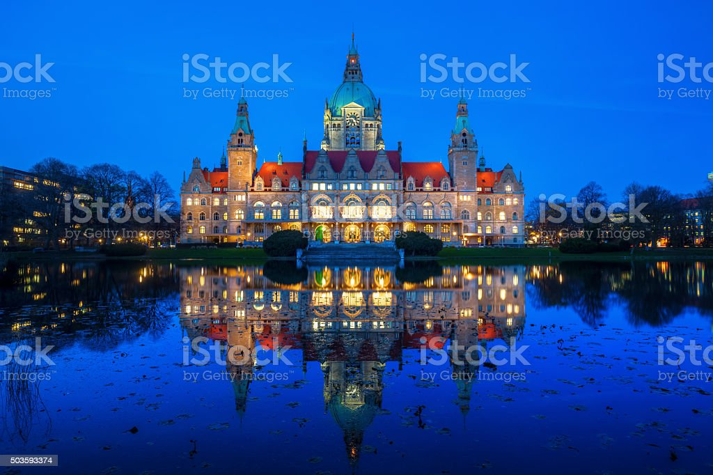 New City Hall in Hanover, Germany stock photo