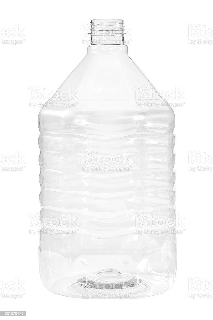 New, clean, empty plastic bottle on white background photo libre de droits