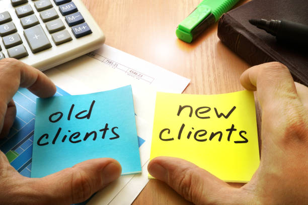 new clients vs old clients. customer retention concept. - repetition stock photos and pictures