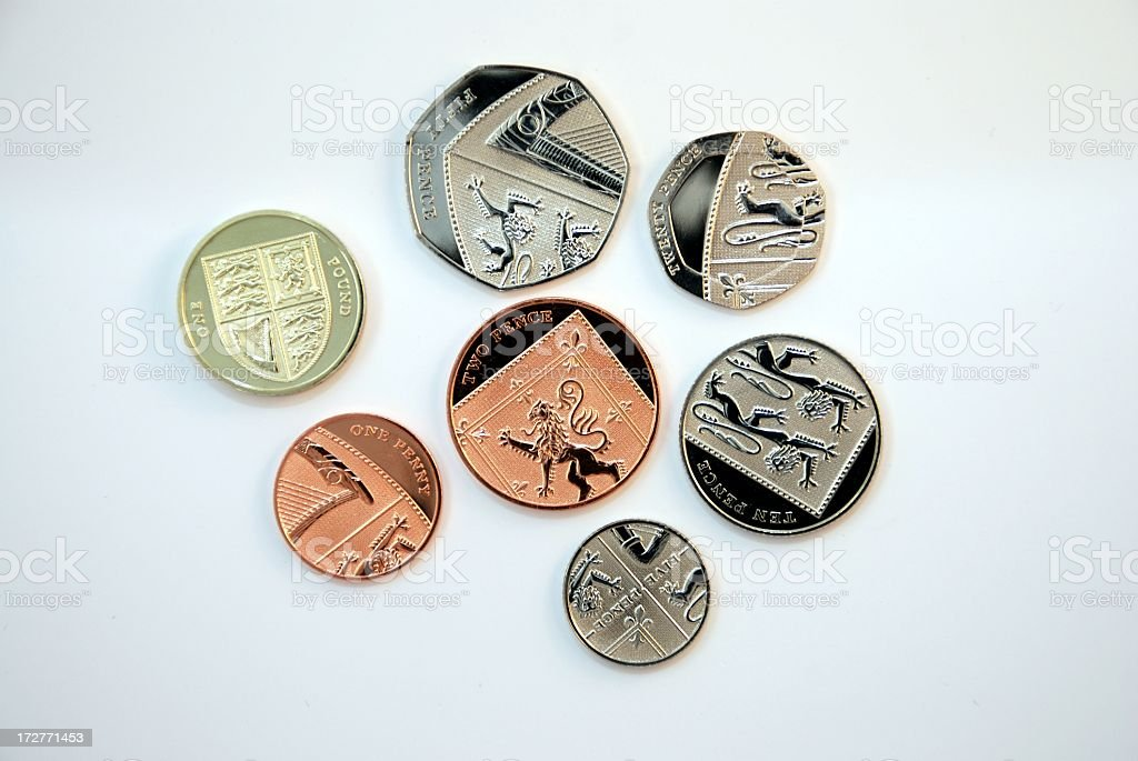 New Coins - UK stock photo