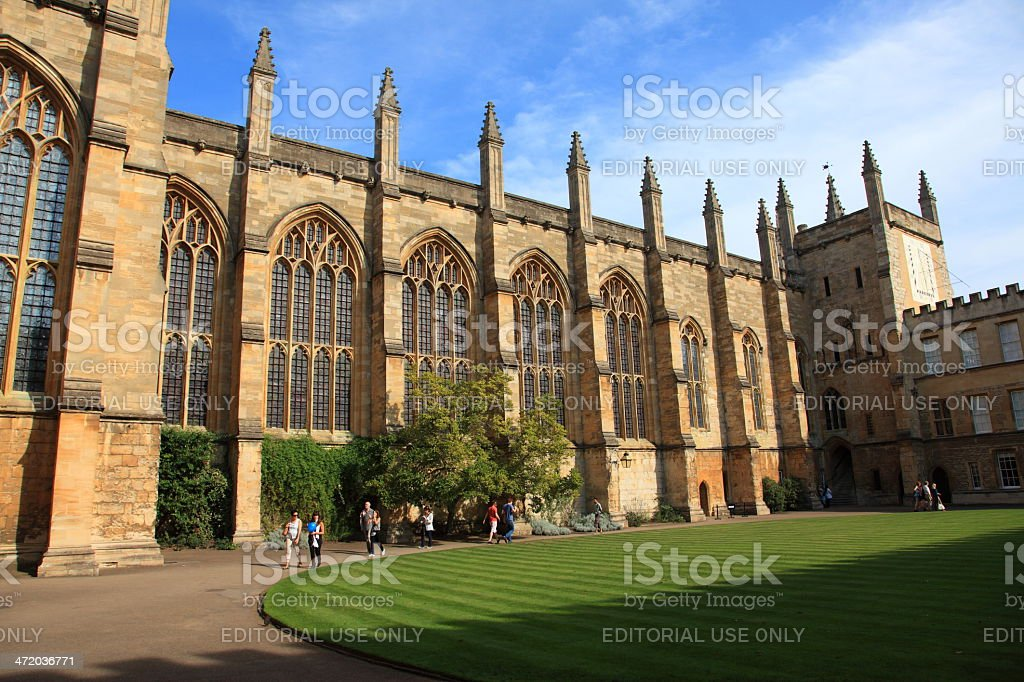 New College Oxford, England stock photo