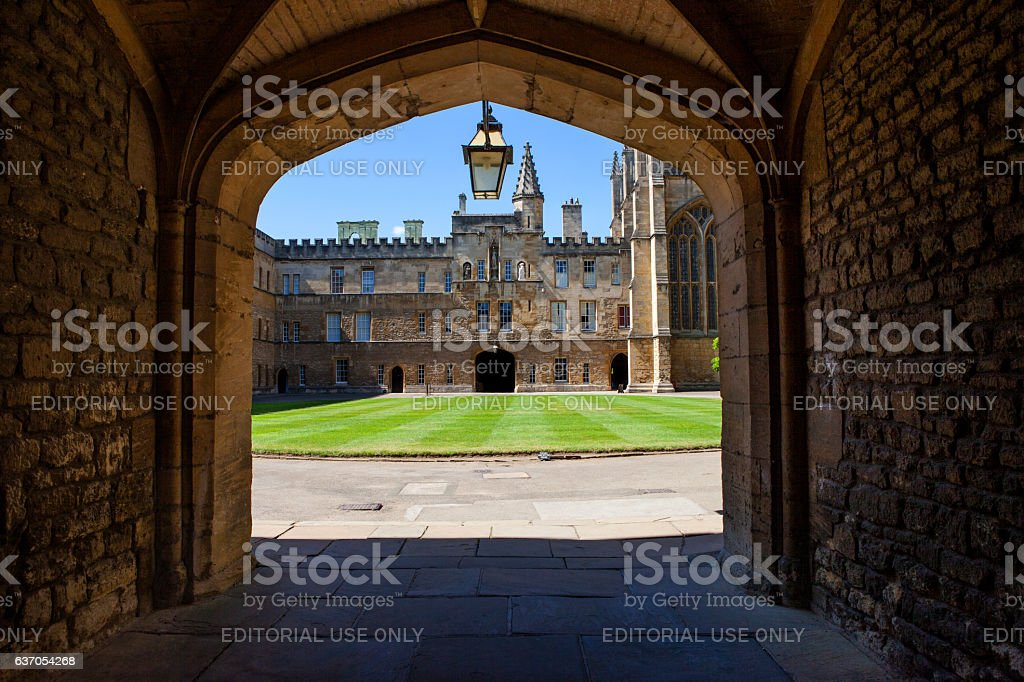 New College Oxford stock photo