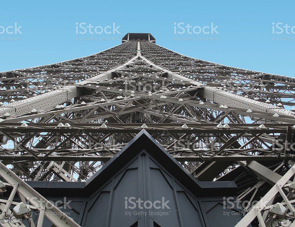 New Color Perspective of Eiffel Tower royalty-free stock photo