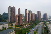New commercial housing in the eastern city of Guangzhou, China