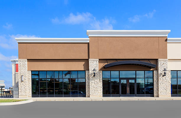 New Commercial Retail Space stock photo
