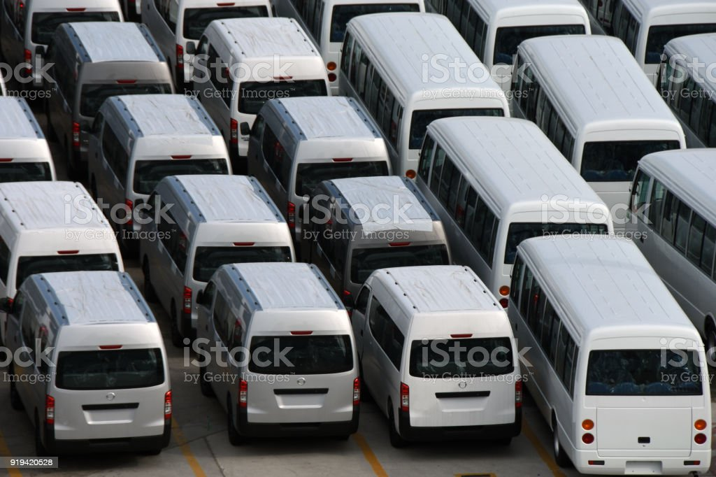 New Commercial Vehicles stock photo