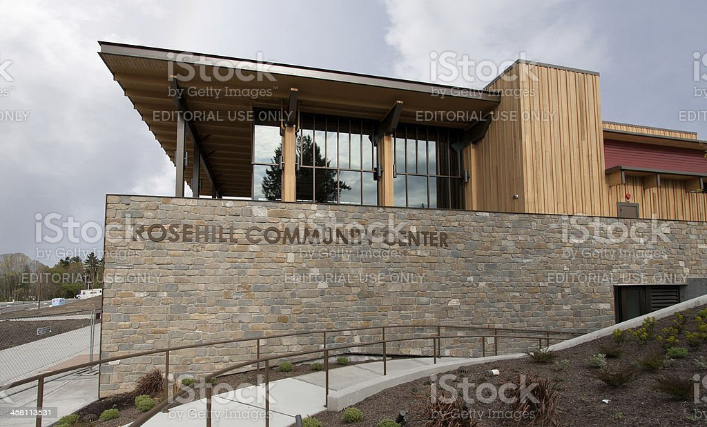 New Community Center stock photo