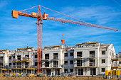 New complex of apartment buildings under construction, Szczecin, Poland