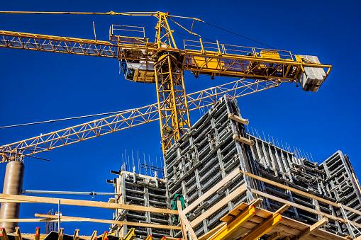 New concrete building under construction