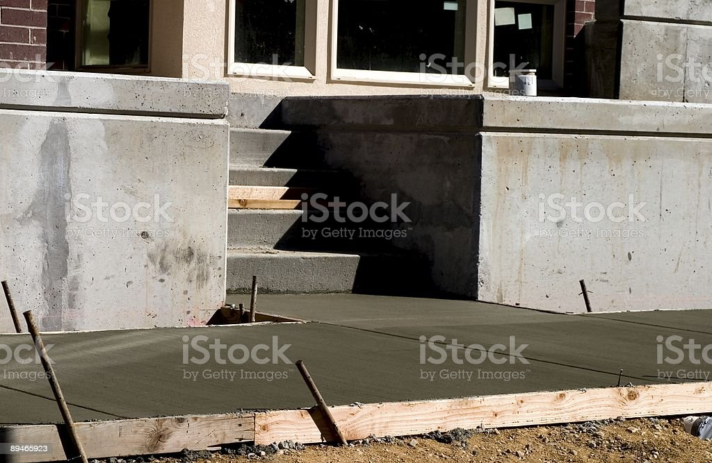 New Concrete Steps royalty-free stock photo