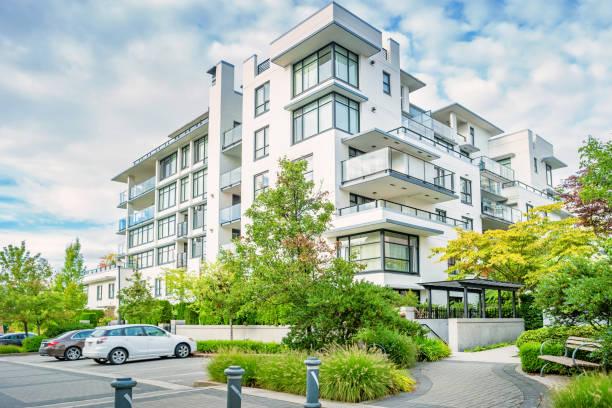 New condo building in Vancouver Canada stock photo