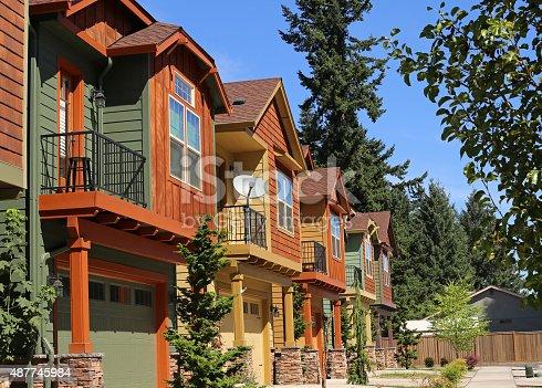 108220043 istock photo New condominium apartments in suburban neighborhood 487745984