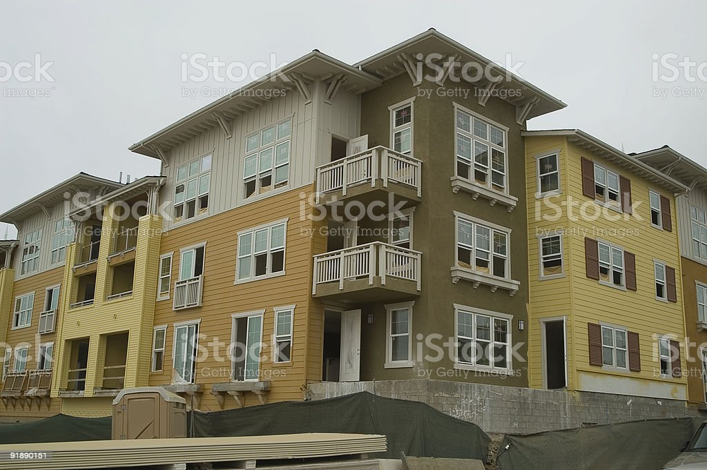 New Condominiums royalty-free stock photo