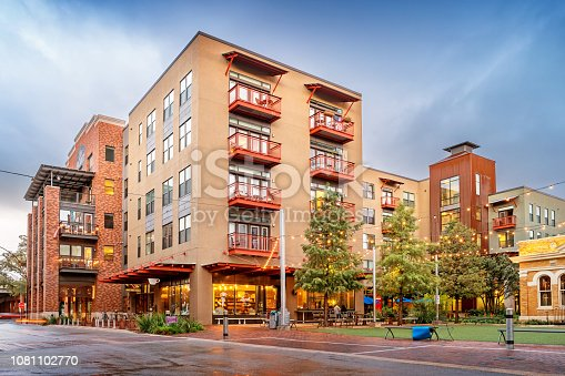 Stock photograph of new condos in the chic Pearl District of in San Antonio Texas USA