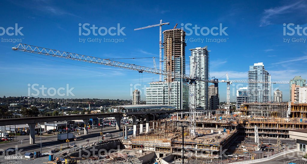 New Consnruction in Burnaby city stock photo