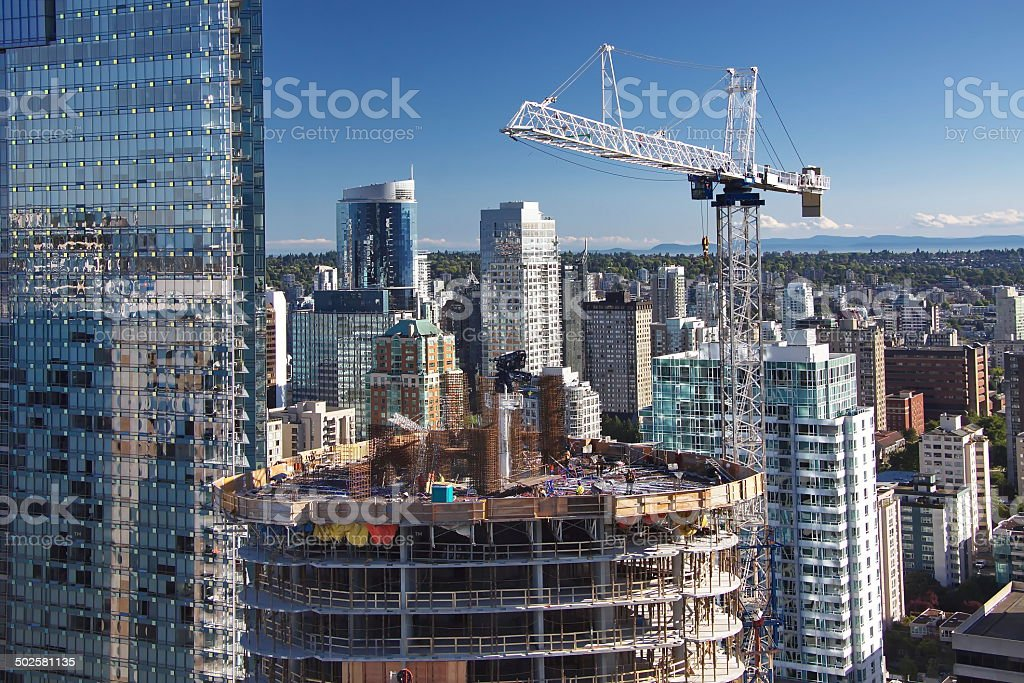 New Consnruction in Downtown Vancouver stock photo