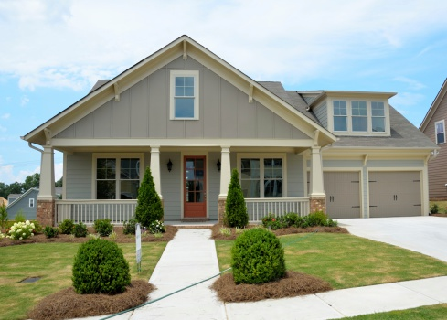 New Constructed Home For Sale Stock Photo - Download Image Now