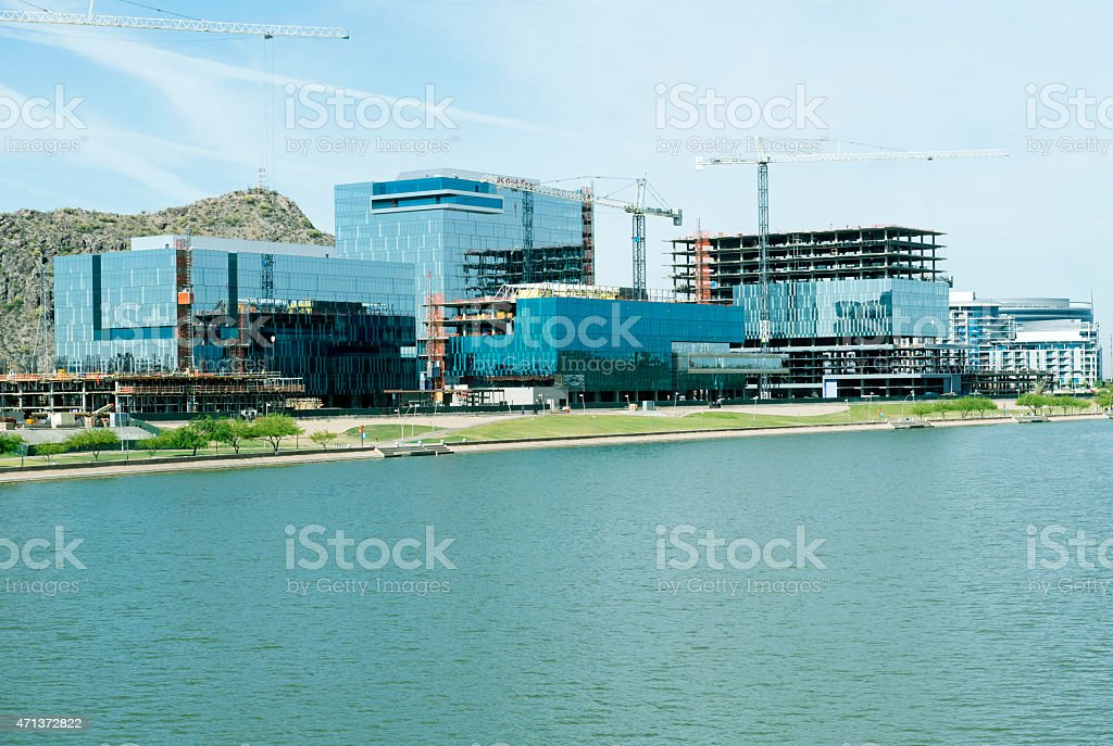 New Construction Along Rio Salado In Tempe Az Stock Photo