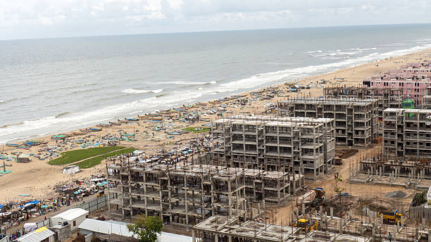 New Construction Chennai Aerial View stock photo