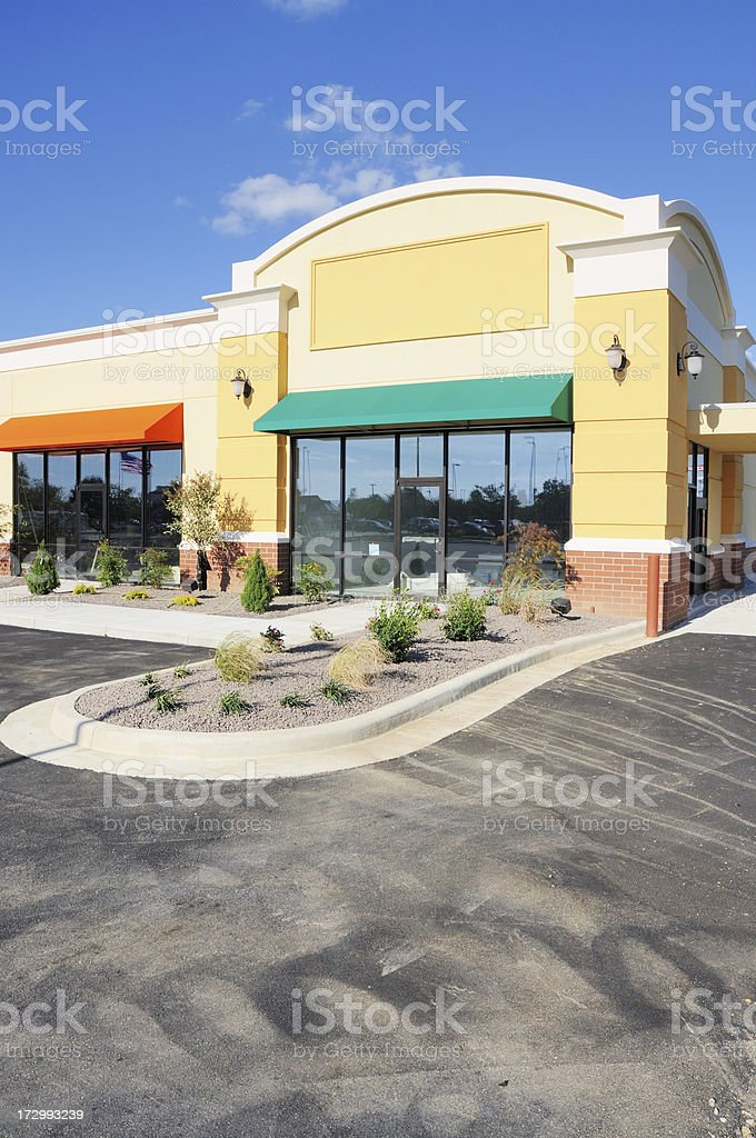 New Construction Commercial Real Estate Storefront royalty-free stock photo