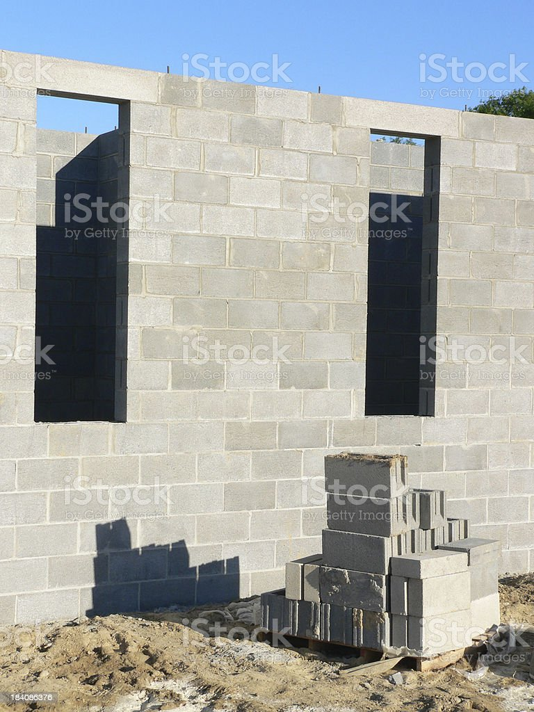 New Construction - Concrete Foundation royalty-free stock photo