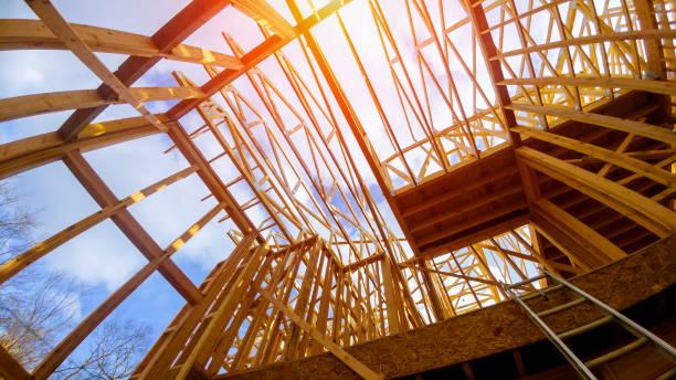 새로운 건설 프레임 하우스 프레임 - 건설 프레임 뉴스 사진 이미지