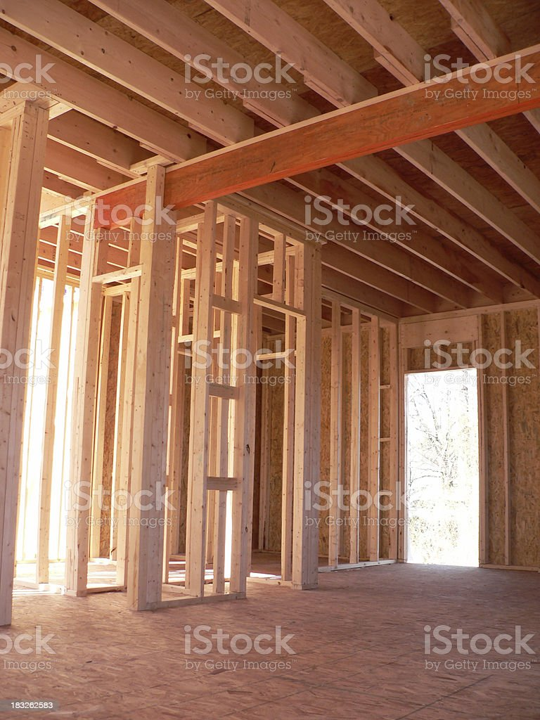 New Construction - framing royalty-free stock photo