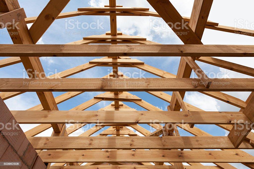 Fotografía de Construcción Nueva Casa Encuadre En Primer Plano De ...