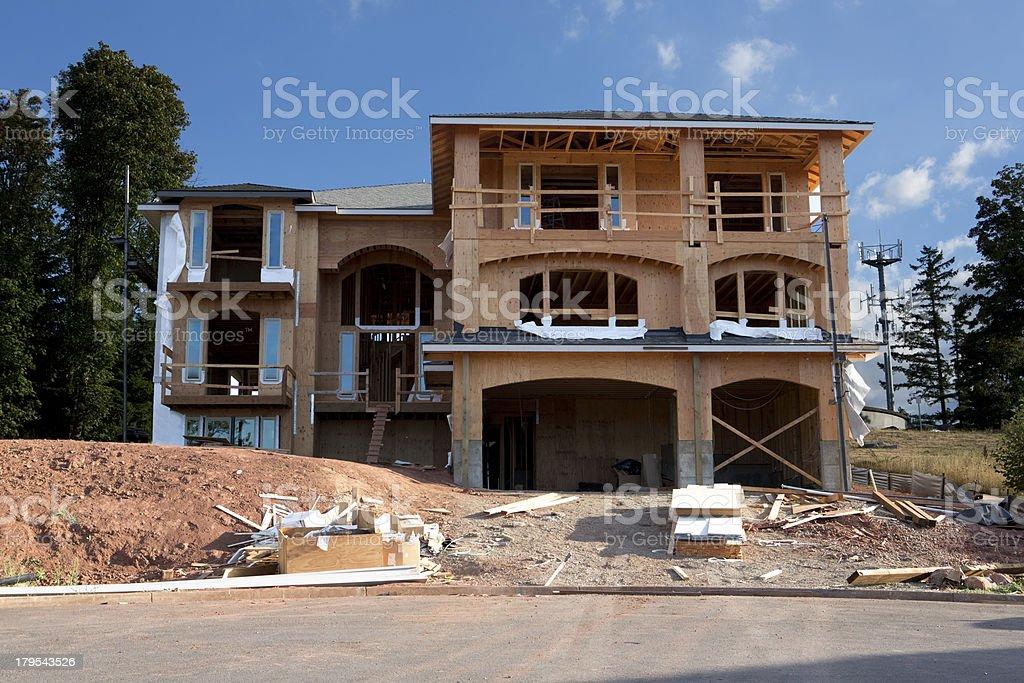 New Construction House royalty-free stock photo