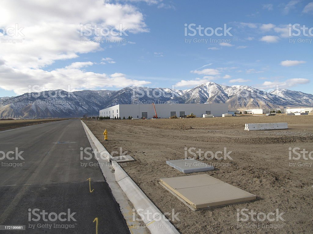 New Construction Landscape royalty-free stock photo