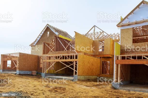 New construction of a house framed new construction of a house a new picture id888977462?b=1&k=6&m=888977462&s=612x612&h=gzwk2ipenmkq1tml5nu7rfq2mwz6 jddcp18rb07raq=