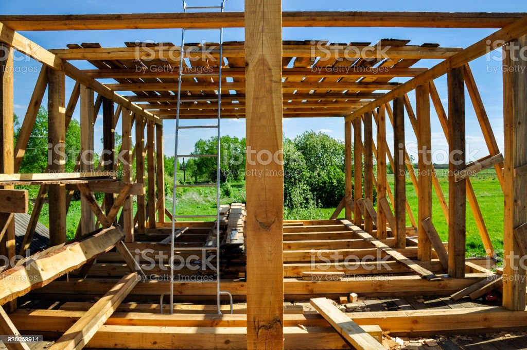 New construction of a house stock photo