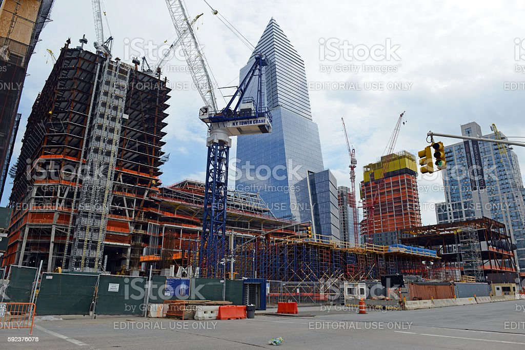 New construction on the west side of Manhattan stock photo