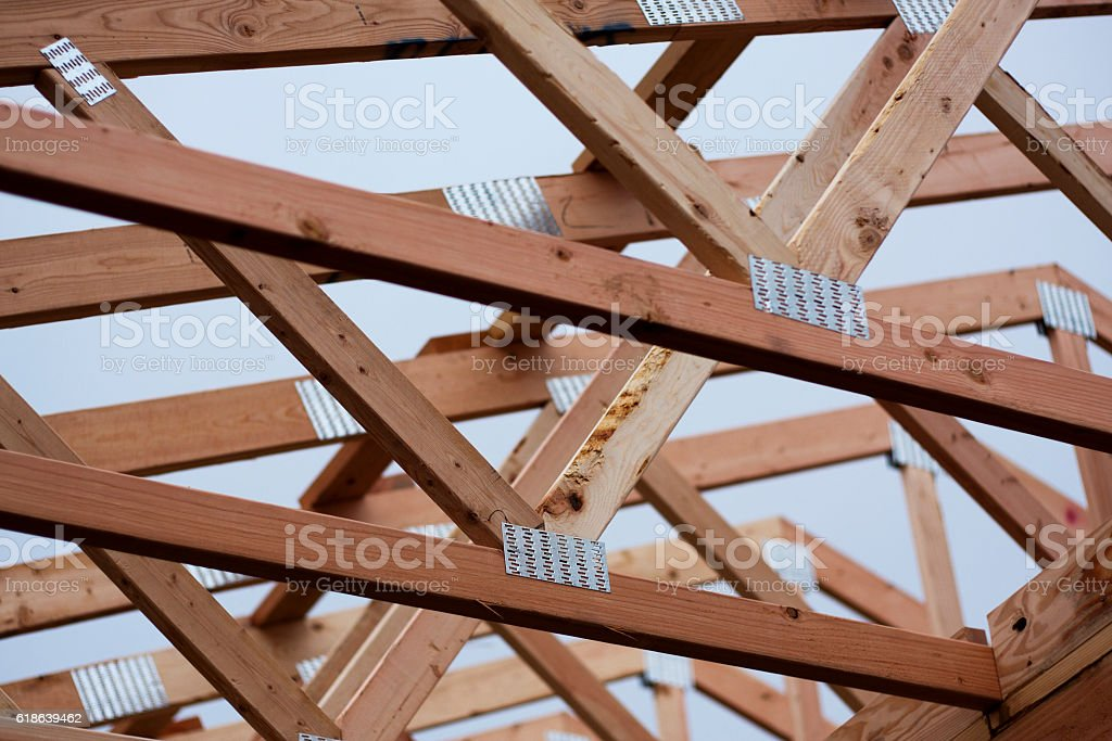 New Construction - Roof Joists stock photo
