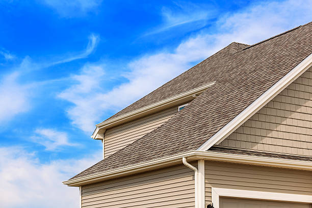 New Construction - Roofing,Siding,Gutters stock photo