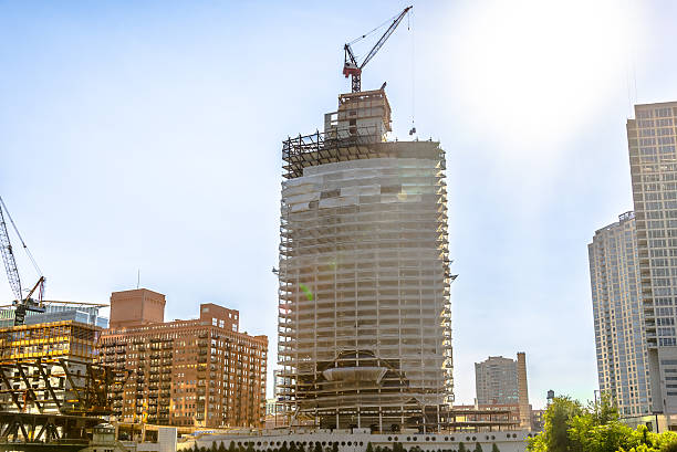 New Constructions in Downtown Chicago stock photo