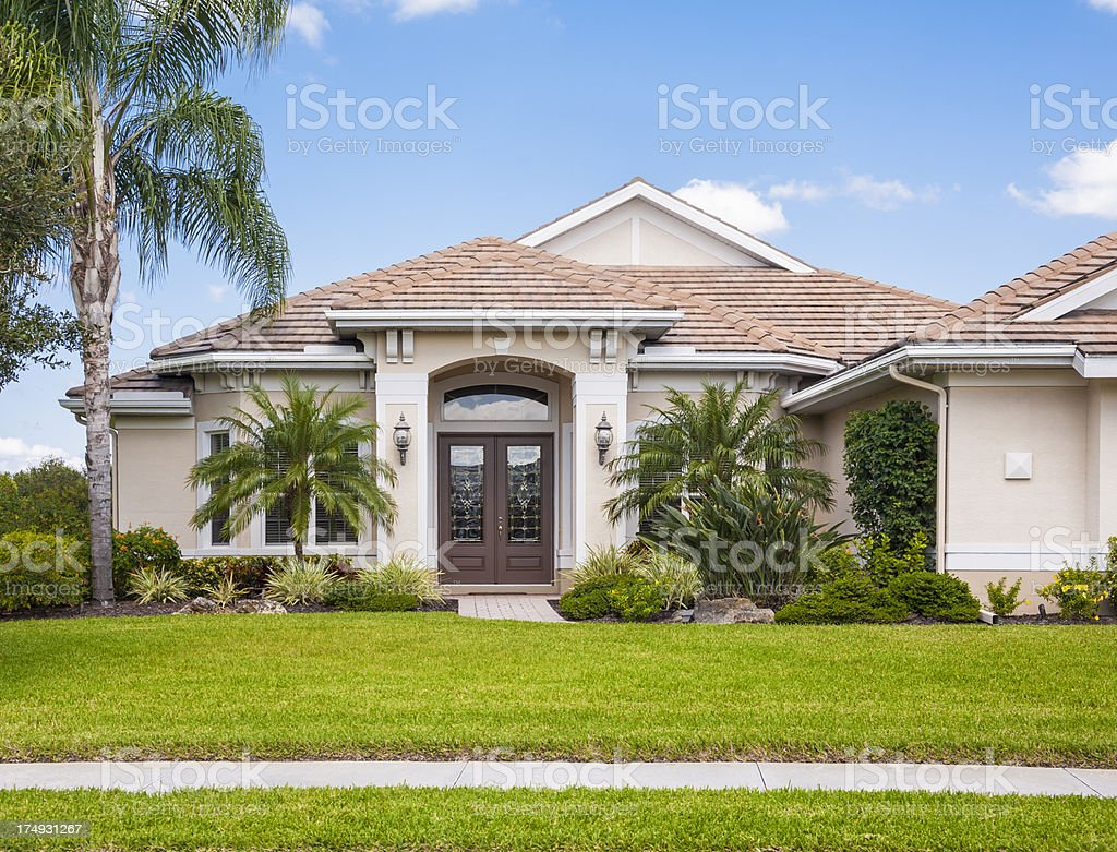 New Contemporary Home stock photo
