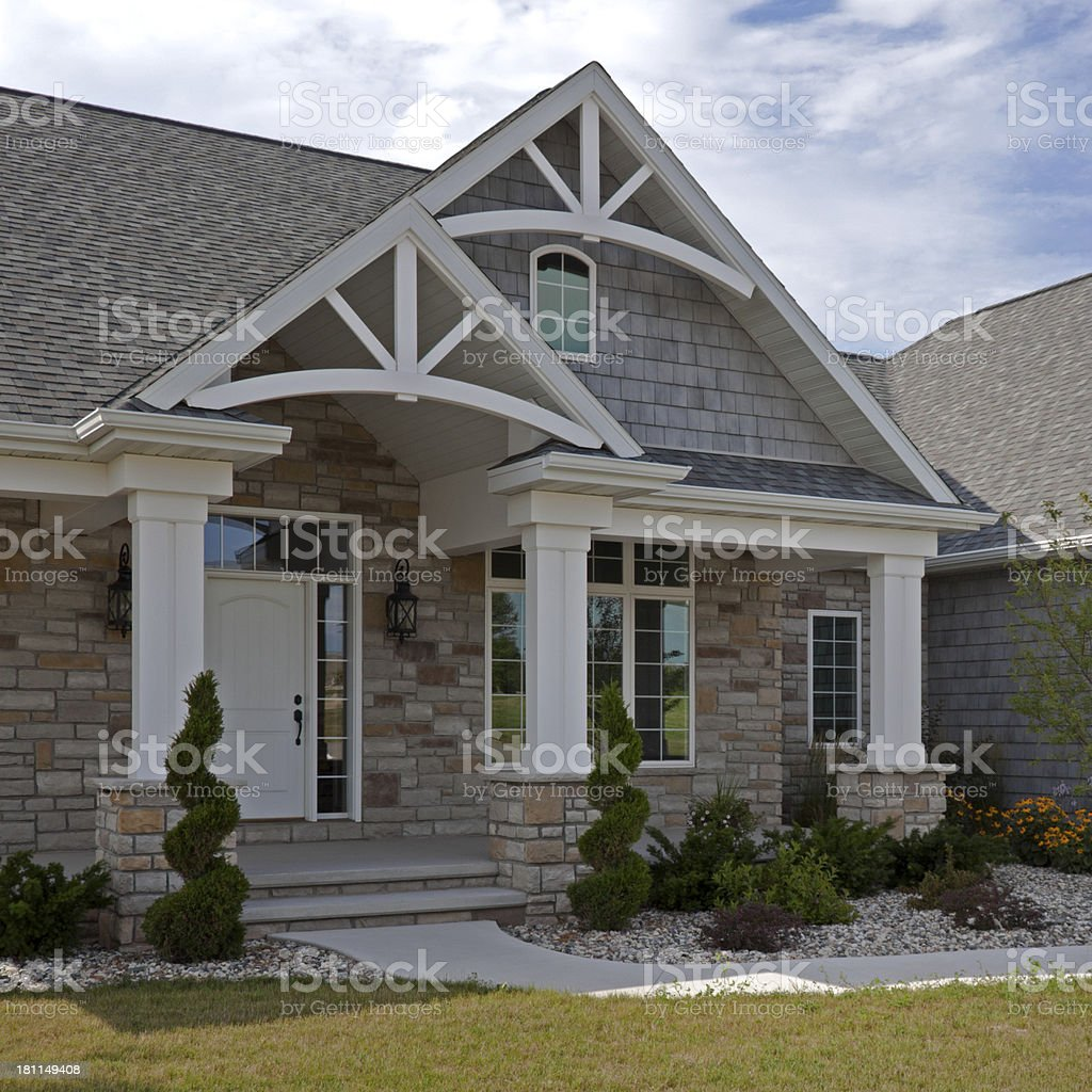New contemporary home with arches royalty-free stock photo