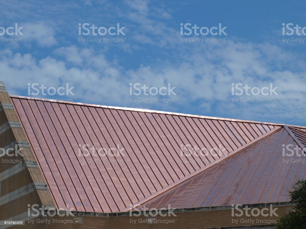 New Copper Roof stock photo