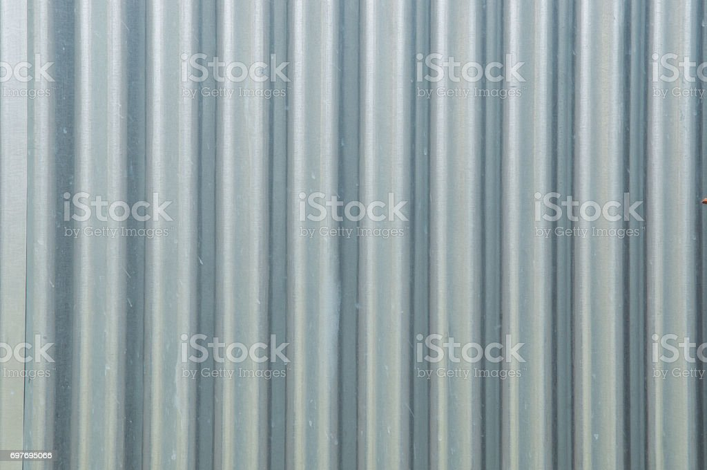 new corrugated metal for texture or background stock photo