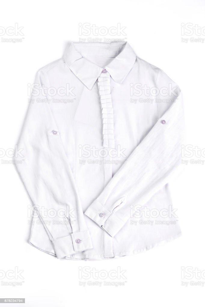 Nova blusa de algodão brancas. - foto de acervo