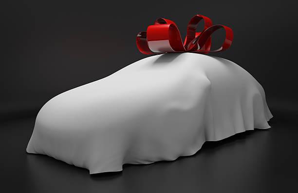 neue überdachte sportwagen mit einem roten band - autoschleifen stock-fotos und bilder