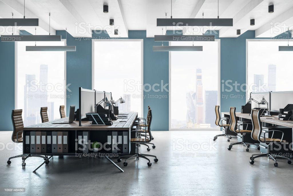 New coworking office interior royalty-free stock photo